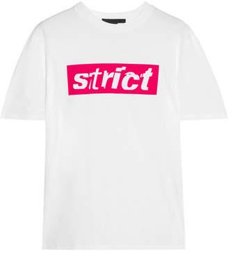 Alexander Wang - Flocked Cotton-jersey T-shirt - White $245 thestylecure.com