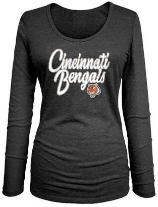 5th & Ocean Women Cincinnati Bengals Long Sleeve Triblend Foil T-Shirt