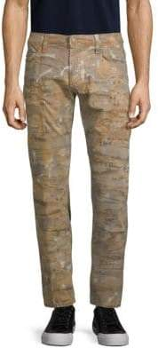 Textured Graphic Jeans