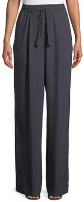 Vince High-Rise Drawstring Wide-Leg Pants