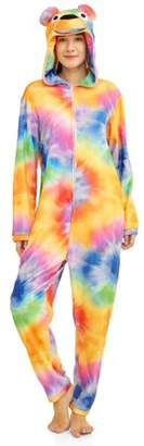 Women's Onesie Tie Dye Bear Union Suit