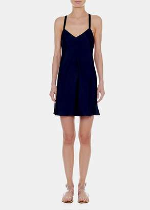 Tibi Mendini Twill Strappy Short Dress