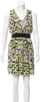 Milly Printed Silk Mini Dress