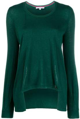 Patrizia Pepe asymmetric relaxed-fit pullover