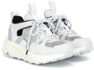 Ganni Mesh and leather sneakers