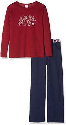Dim Boy's Nuit Pyjama 2 Pièces Garcon Set, (Navy Blue 49), (Size: 14A)