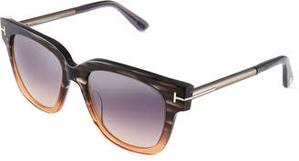 Tom Ford Square Cat-Eye Acetate Sunglasses