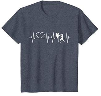 Heartbeat Kickboxing Shirt Kick Boxing T-Shirt Karate Tee