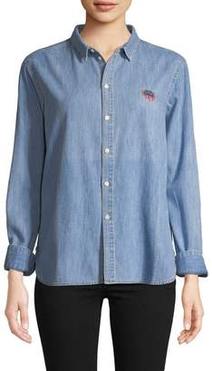 Kenzo Women's Chambray Lion Icon Shirt