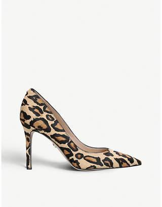 Sam Edelman Hazel Pump 90 leopard-print suede courts