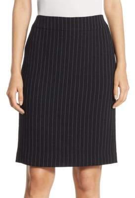 Armani Collezioni Pinstripe Pencil Skirt