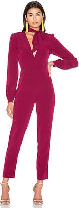 MAJORELLE Bella Jumpsuit in Wine $250 thestylecure.com