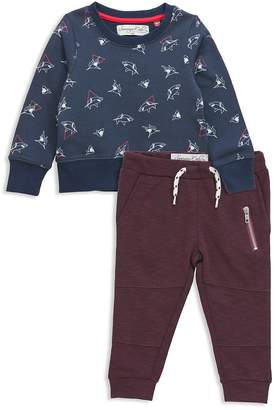 Sovereign Code Boys' Shark Print Sweatshirt & Jogger Pants Set