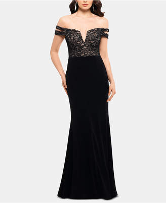 Xscape Evenings X by Off-The-Shoulder Double-Strap Gown