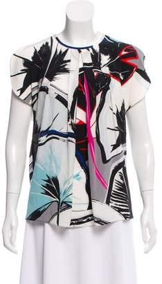Balenciaga Silk Floral Print Top w/ Tags