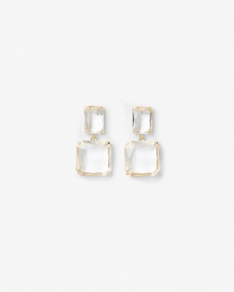 Express Square Stone Drop Earrings