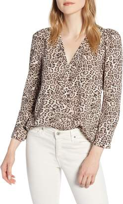1 STATE 1.STATE Leopard Print Blouse