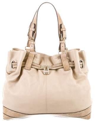 Reiss Animal Print Leather Shoulder Bag