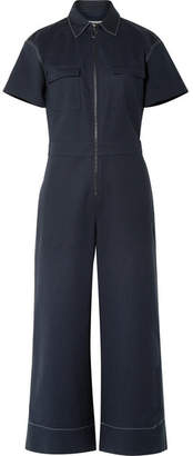 Elizabeth and James Morrison Cotton-blend Jumpsuit - Navy