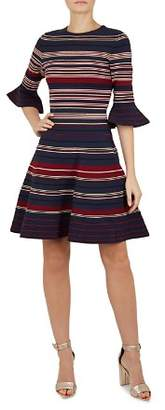 Ted Baker Tayiny Striped Skater Dress