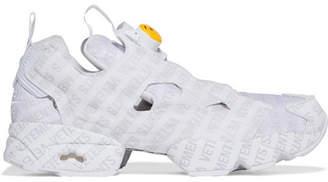Vetements + Reebok Logo Instapump Fury Logo-print Leather And Mesh Sneakers