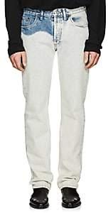 Balenciaga Men's Bleached Slim Jeans-Lt. Blue