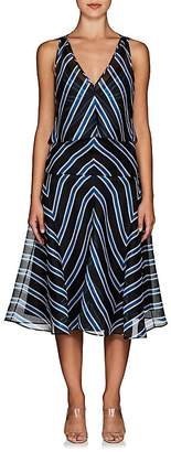 Fendi Women's Striped Silk Organza Overlay Dress