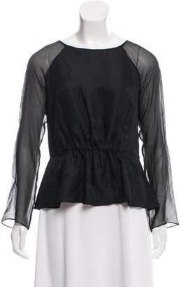 Rebecca Taylor Silk Long Sleeve Blouse