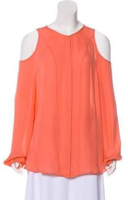 Tamara Mellon Silk Cold-Shoulder Top