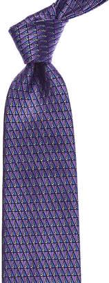 Ermenegildo Zegna Purple Pattern Silk Tie