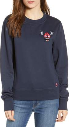 Moose Knuckles Small Munster Embroidered Sweatshirt