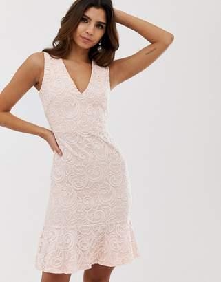 080d5b4bf39e Vesper floral frill skirt bodycon dress
