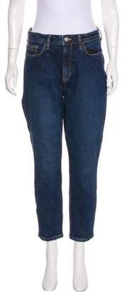 Calvin Klein Jeans Cropped High-Rise Jeans