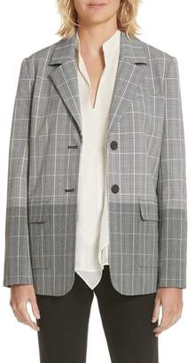 Derek Lam 10 Crosby Mixed Plaid Blazer