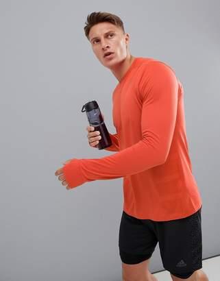 adidas supernova long sleeved top in orange cz8725
