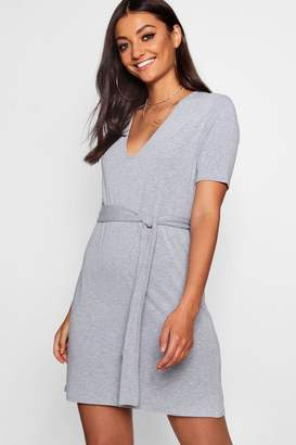 boohoo Tall Front Neck Shift Dress