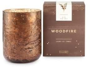 Illume Noble Holiday Woodfire Boxed Sanded Tumbler Candle
