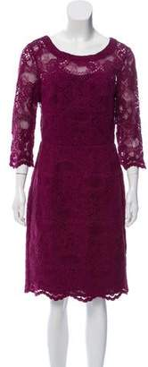 Nicole Miller Lace Knee-Length Dress w/ Tags