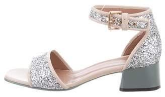 Marni Glitter Ankle Strap Sandals