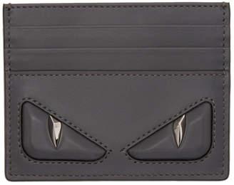 Fendi Grey 3D Bag Bugs Card Holder