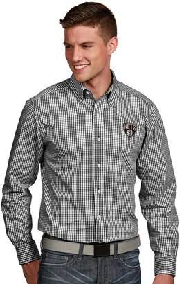 Antigua Men's Brooklyn Nets Associate Plaid Button-Down Shirt