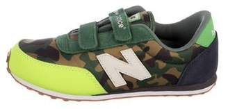 New Balance Boys' Camo Mesh Sneakers