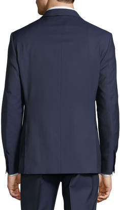 DKNY Slim-Fit Tic Weave Suit, Blue