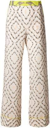 Antonia Zander safari printed flared trousers