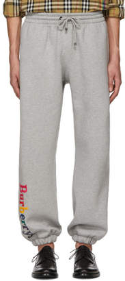 Burberry Grey Rainbow Lounge Pants