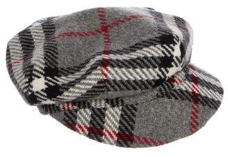 6c6142a12fd Burberry Wool Nova Check Newsboy Hat