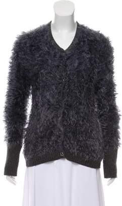 Armani Jeans Wool-Trimmed Knit Cardigan