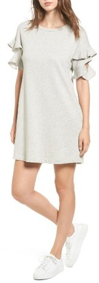 Women's Lush Ruffle Cutout Sweatshirt Dress $45 thestylecure.com