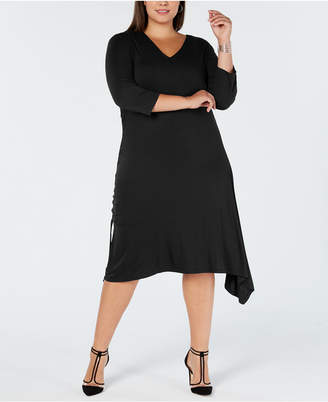 INC International Concepts I.n.c. Plus Size Asymmetrical-Hem A-Line Dress