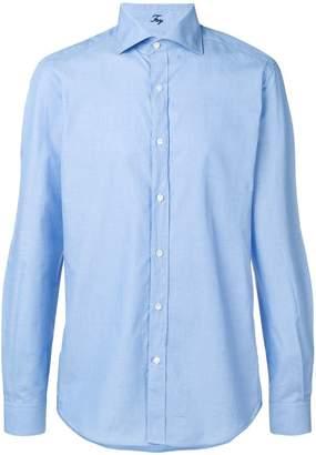 Fay cutaway collar shirt